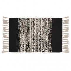 Carpet with fringe - Black - 23 x 43''