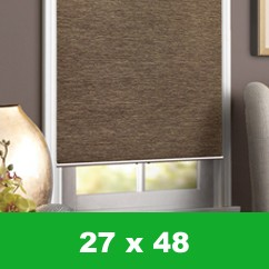 Bamboo cordless blind - Brown - 27 x 48 inch