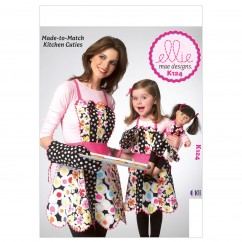 "K0124 Adult/Children's/18"" Doll Aprons and Mitt (size: All Sizes In One Envelope)"