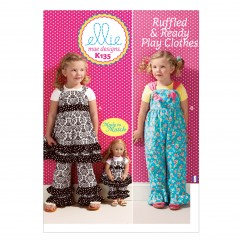 K0135 Girls' Top, Pants and Overalls; Dolls' Top and Pants (size: All Sizes In One Envelope)