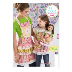 K0136 Misses'/Girls'/Dolls' Aprons (size: All Sizes In One Envelope)