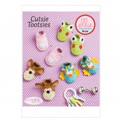 K0170 Babies Booties (size: All Sizes In One Envelope)