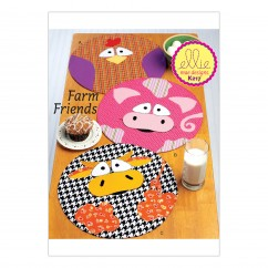 K0217 Circular Farm Animal Placemats (size: One Size Only)