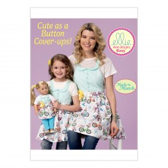 "K0223 Misses'/Girls'/18"" Dolls' Matching Full Aprons (size: S-M-L)"