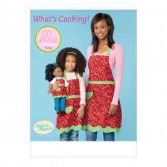 "K0255 Misses', Girls' and 18"" Doll Aprons (size: S-M-L (Misses & Girls))"