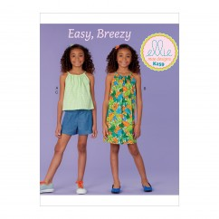 K0259 Girl's Top, Dress and Shorts (size: 7-8-9-10-12-14)