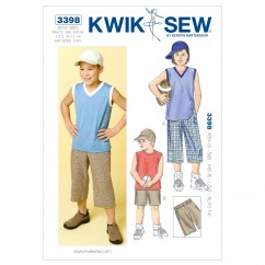 K3398 Shorts, Shirts & Hat (size: XS (4-5) - S (6) - M (7-8) - L (10) - XL (12-14))