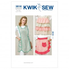 K3518 Aprons (size: View A and B: One Size;  View C S-M-L)