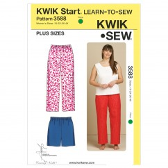 K3588 Sleep Pants & Shorts (size: 1X - 2X - 3X - 4X)