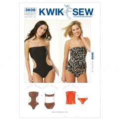 K3608 Strapless Swimsuits (size: XS-S-M-L-XL)