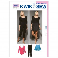 K3661 Leotard, Leggings & Skirt (size: XS-S-M-L-XL)
