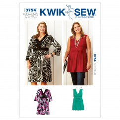 K3754 Dress & Tunic (size: 1X - 2X - 3X - 4X)