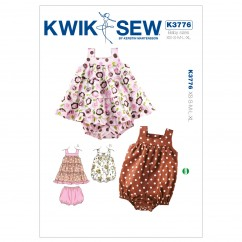 K3776 Dress, Bloomers & Romper (size: XS-S-M-L-XL)
