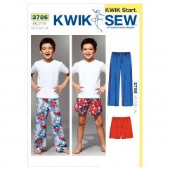 K3786 Sleep Pants & Shorts (size: XS(4-5) - S(6) - M(7-8) - L(10) - XL(12-14))