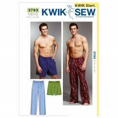 K3793 Sleep Pants & Shorts (size: S-M-L-XL-XXL)