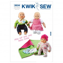 """K3834 Doll Clothes (size: Fits 16"""" (40 cm) Baby Dolls)"""