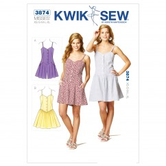 K3874 Romper & Dress (size: XS-S-M-L-XL)