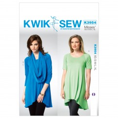 K3954 Misses' Tunic (size: All Sizes In One Envelope)