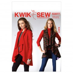 K3977 Misses' Vest and Jacket (size: All Sizes In One Envelope)