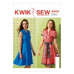 K4000 Misses' Dresses and Belt (size: All Sizes In One Envelope)