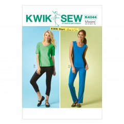 K4044 Misses' Tops, Shorts and Pants (size: All Sizes In One Envelope)