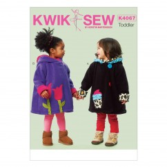 K4067 Toddlers' Coat (size: All Sizes In One Envelope)