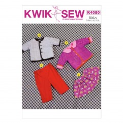K4080 Baby Jacket, Skirt and Pants (size: All Sizes In One Envelope)