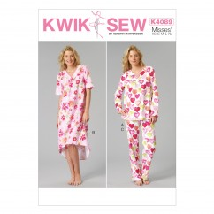 K4089 Misses' Top, Gown and Pants (size: All Sizes In One Envelope)