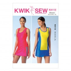 K4113 Misses' Tops and Skorts (size: XS - XL)