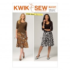 K4137 Misses' Skirts (size: XS - XL)