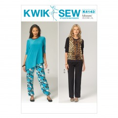 K4143 Misses' Tops and Pants (size: XS - XL)