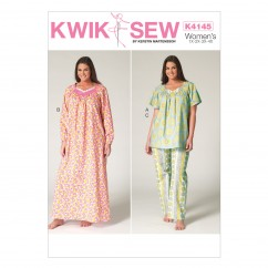 K4145 Women's Top, Nightgown and Pants (size: 1X - 4X)