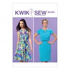 K4154 Misses' Tie-Front Dresses (size: All Sizes in One Envelope)