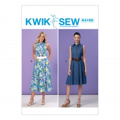 K4155 Misses' Shirtdresses (size: All Sizes in One Envelope)