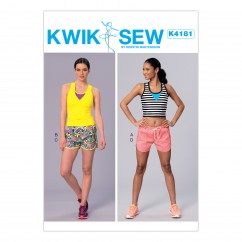K4181 Misses' Racerback Tops and Drawstring Shorts (size: XS-S-M-L-XL)