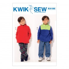 K4186 Boys' Quarter-Zip Jackets and Elastic-Waist Pants (size: XS-S-M-L)