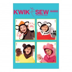 K4202 Kids' Animal-Themed Hoods and Mittens (size: All Sizes in One Envelope)