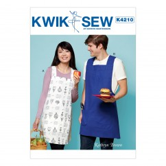 K4210 Pullover Unisex Aprons with Criss-Cross Straps and Patch Pockets (size: XS-S-M-L-XL)