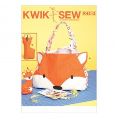 K4212 Tote Bag and Scissor Holder with Pockets and Appliqué Front (size: One Size Only)
