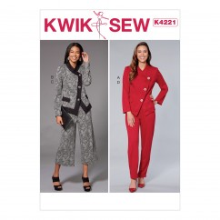 K4221 Misses' Unlined Jacket and Pull-on Pants (size: XS-S-M-L-XL)