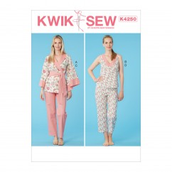K4250 Misses' Jacket, Top and Pants (size: XS-S-M-L-XL)