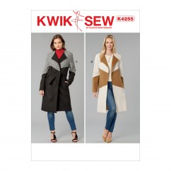 K4255 Misses' Coats and Sash (size: XS-S-M-L-XL)