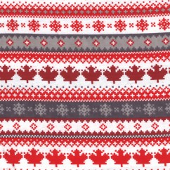 True North Flannelette - Canadiana - Red