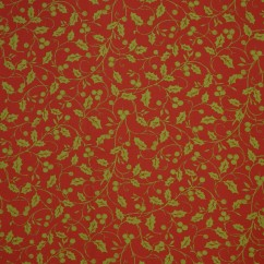 Holiday Tabling Print - Holly Vine - Red