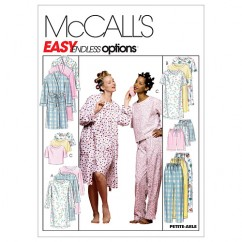 M2476 Misses' Robe, Nightgown Or Top and Pull-On Pants Or Shorts (size: XLG-XXL)