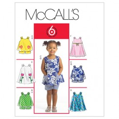 M5416 Toddlers' Tops, Dresses and Shorts (size: All Sizes In One Envelope)