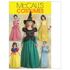 M5494 Children's/Girls' Princess and Witch Costumes (size: 7-8-10-12-14)