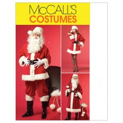 M5550 Misses'/Men's Santa Costumes and Bag (size: SML-MED-LRG)