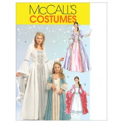 M5731 Misses'/Children's/Girls' Princess Costumes (size: (3-4) (5-6) (7-8))