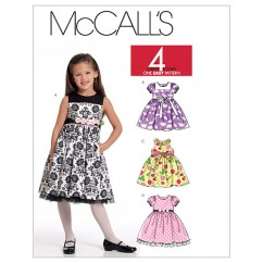 M5793 Children's/Girls' Lined Dresses (size: 6-7-8)